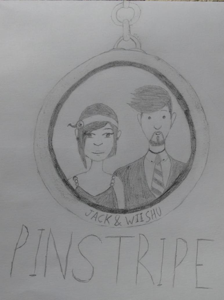 Jack and Wiishu   Pinstripe fanart by PonyKrystal