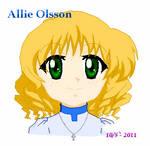 Allie Olsson as child