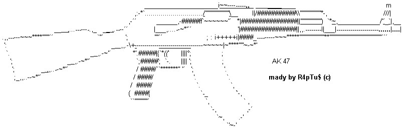 Top Five Text Art Gun / Fullservicecircus