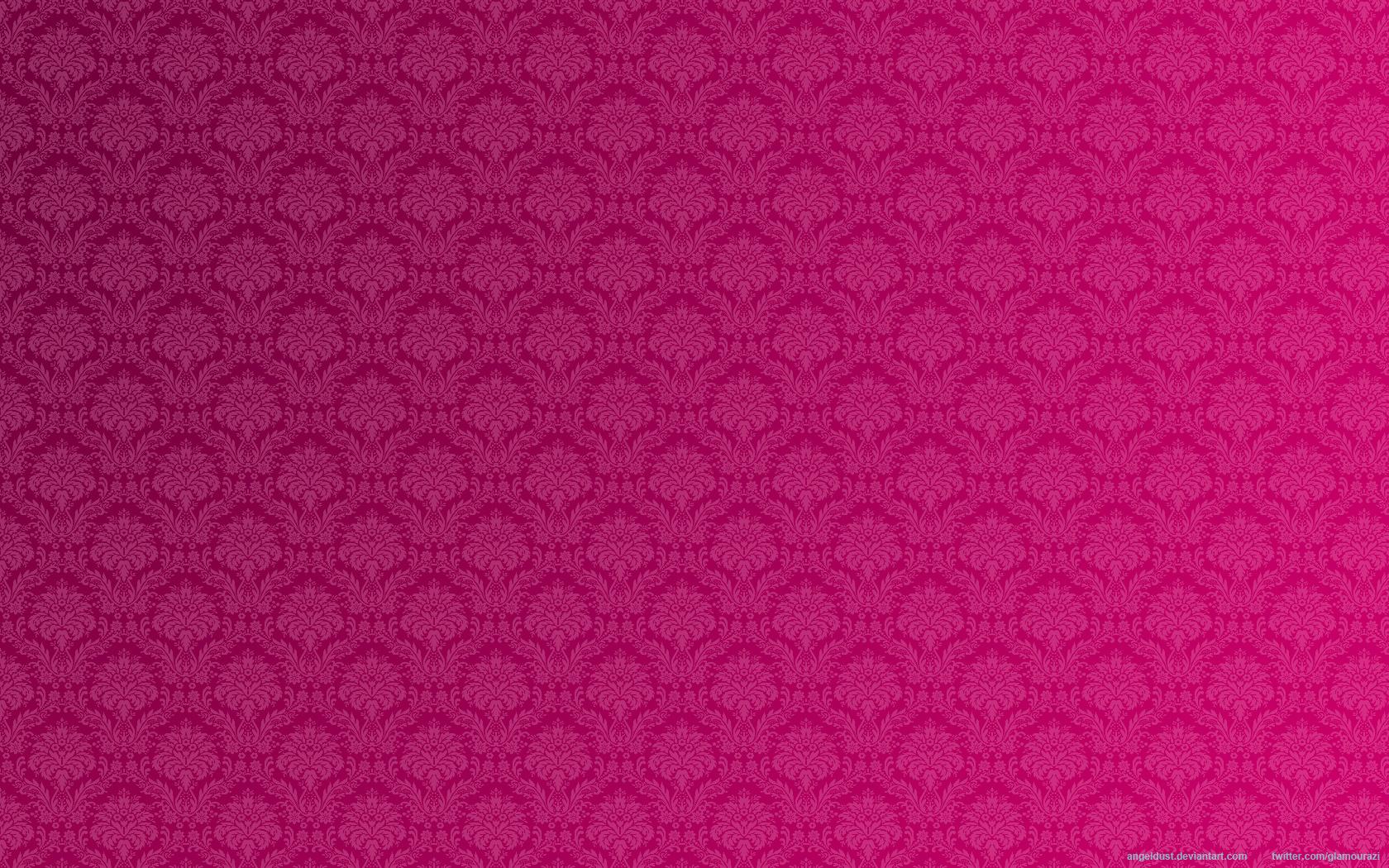 Pink Floral Vintage Wallpaper