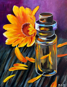 Glass Jar and Sunflower
