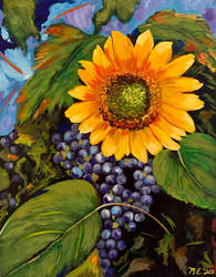 Grapes with Sunflower