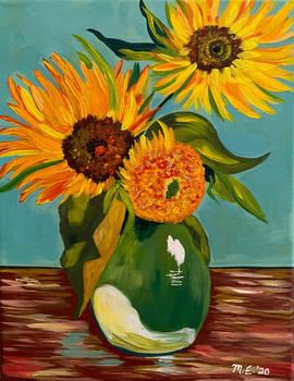 Van Gogh style Sunflowers
