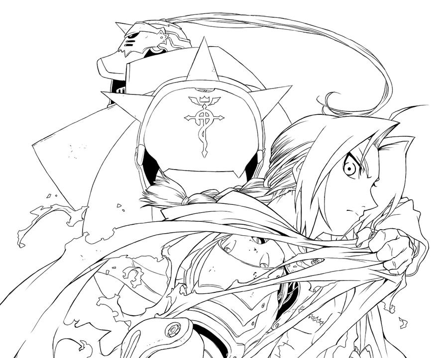 free fullmetal alchemist coloring pages - photo#1