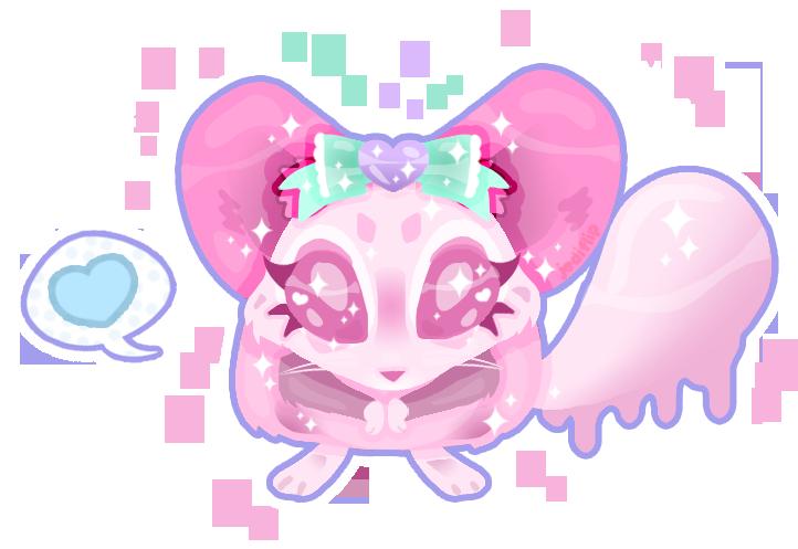 Bubblegum Chinchilla by MissJediflip
