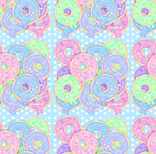 Sugar Glazed Sweets Background by MissJediflip