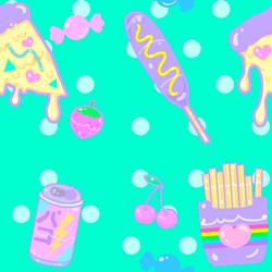 Junk Food Pattern by MissJediflip