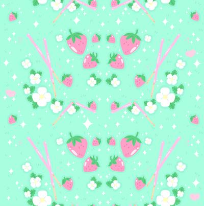 Strawberry Fields Pattern by MissJediflip