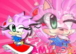 Amy Rose colored gift by sonamyANIMEluver
