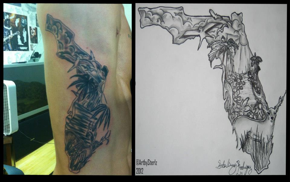 Florida Cracker Tattoo Design by AntonSterling