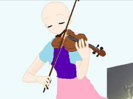Lovely Bald Violinist, By mmdlover100000