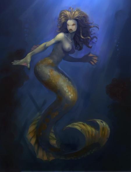 Mermaid by grey3Dx