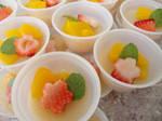 Sweet Peach Sake Jello Shots by p3titexburial