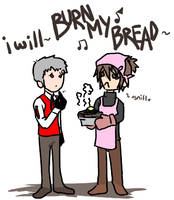 Burn my bread. Er. Dread. by megummichan
