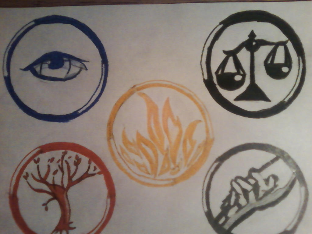 Divergent: Faction Symbols by Percabeth18 on DeviantArt