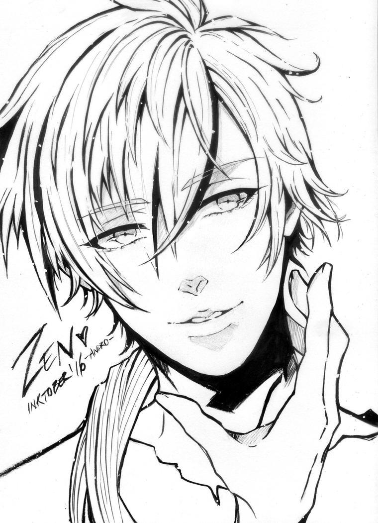 Zen Line Drawing : Hyun ryu zen mystic messenger by andromeda on deviantart