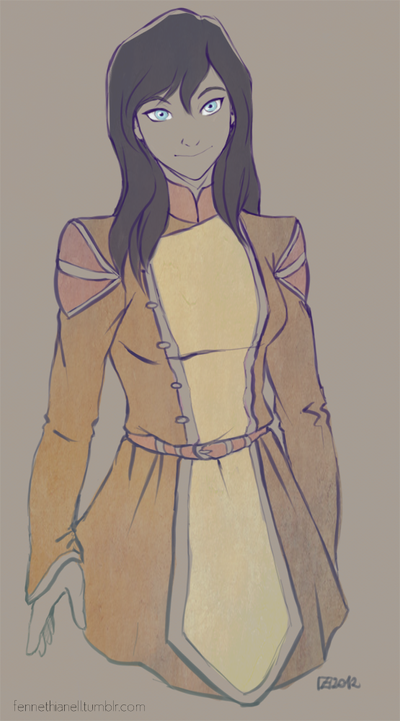 Korra - outfit concept by Fennethianell