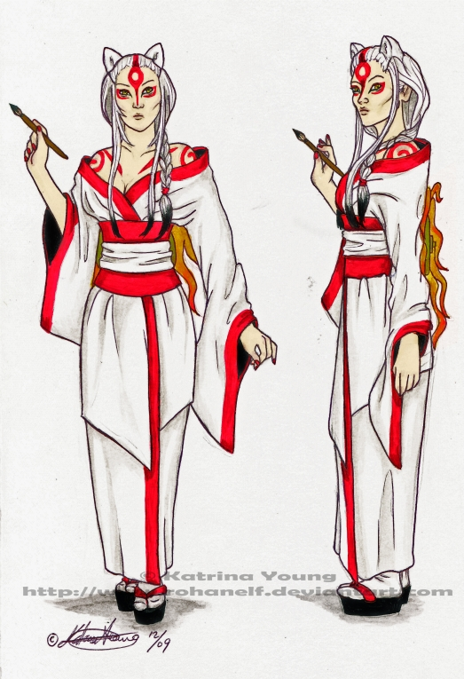 Human Amaterasu Design by RohanElf