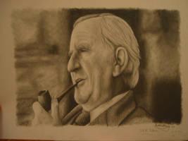 J.R.R Tolkien by RohanElf
