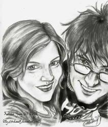 Lily Evans and James Potter by KatArtIllustrations