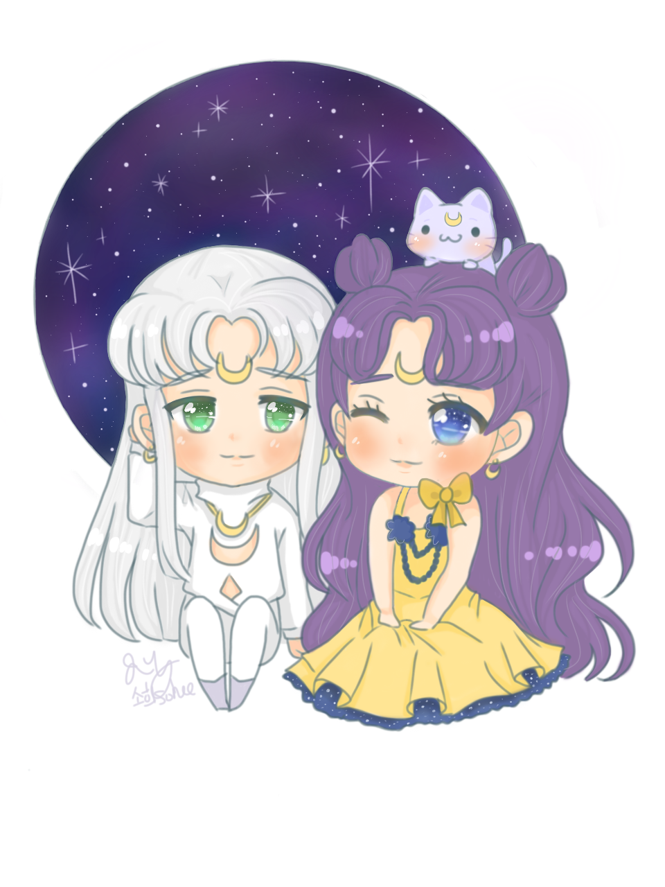 Sailor Moon Luna And Artemis Human Form By Soheesbobaz On