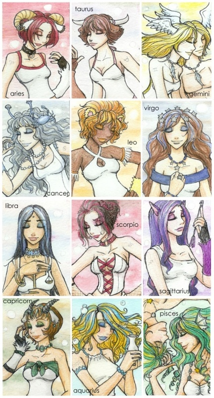 Les signes astrologiques en images The_Zodiac_Girls_by_insomniel