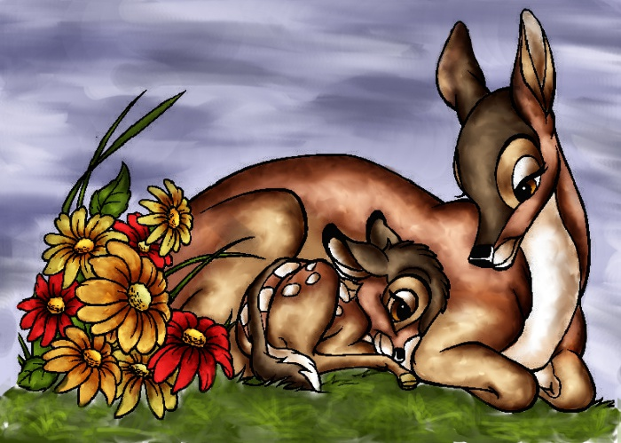 Bambi And His Mother By Urbanstar On Deviantart