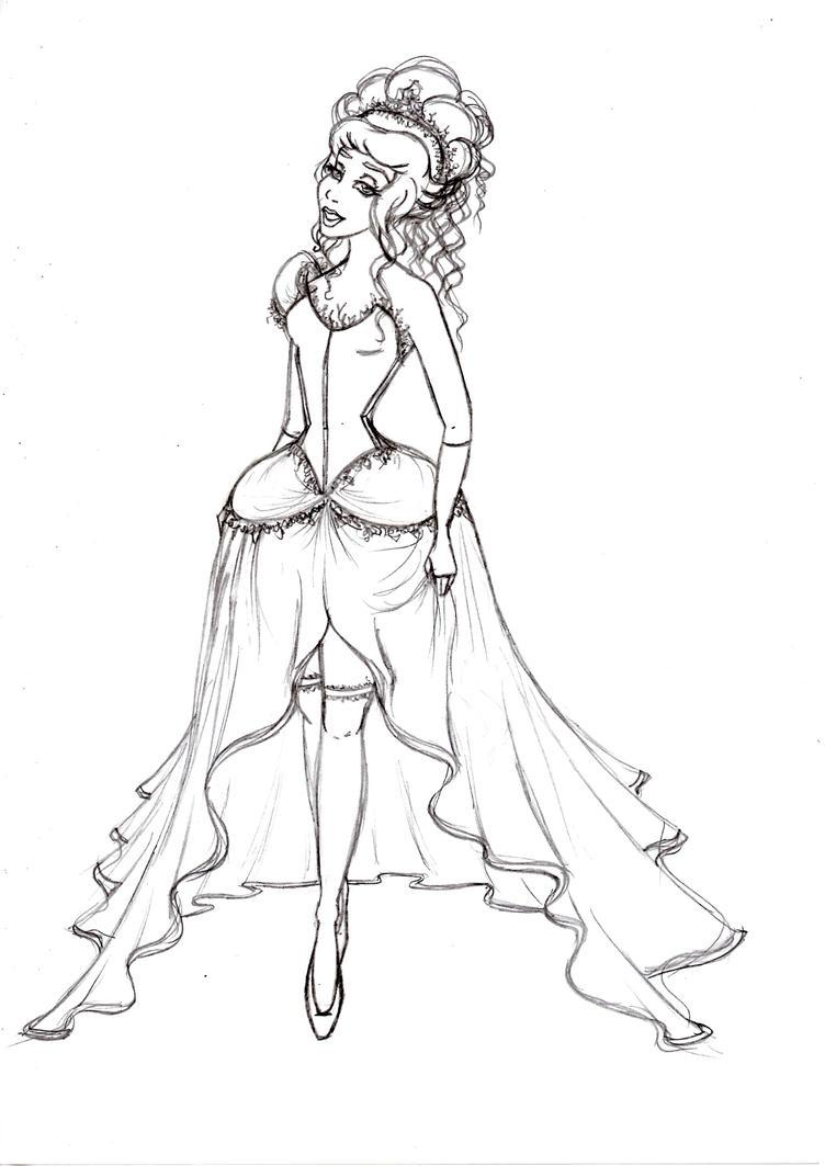 Cinderella Sketch by UrbanStar on DeviantArt
