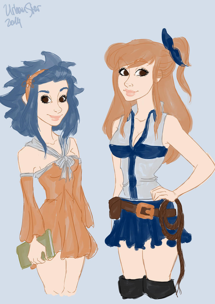 Levy McGarden and Lucy Hearfilia by UrbanStar
