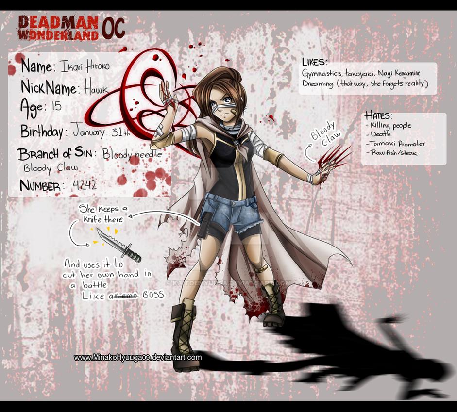 Deadman Wonderland OC - Hiroko by KaitouHyuuga