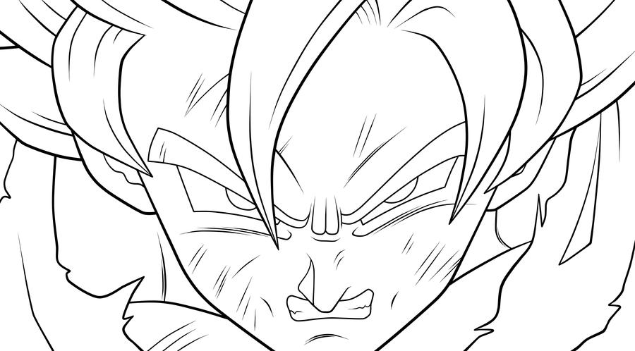 Imagenes Para Colorear De Goku Super Sayayin: Dibujos Para Colorear De Super Sayayin