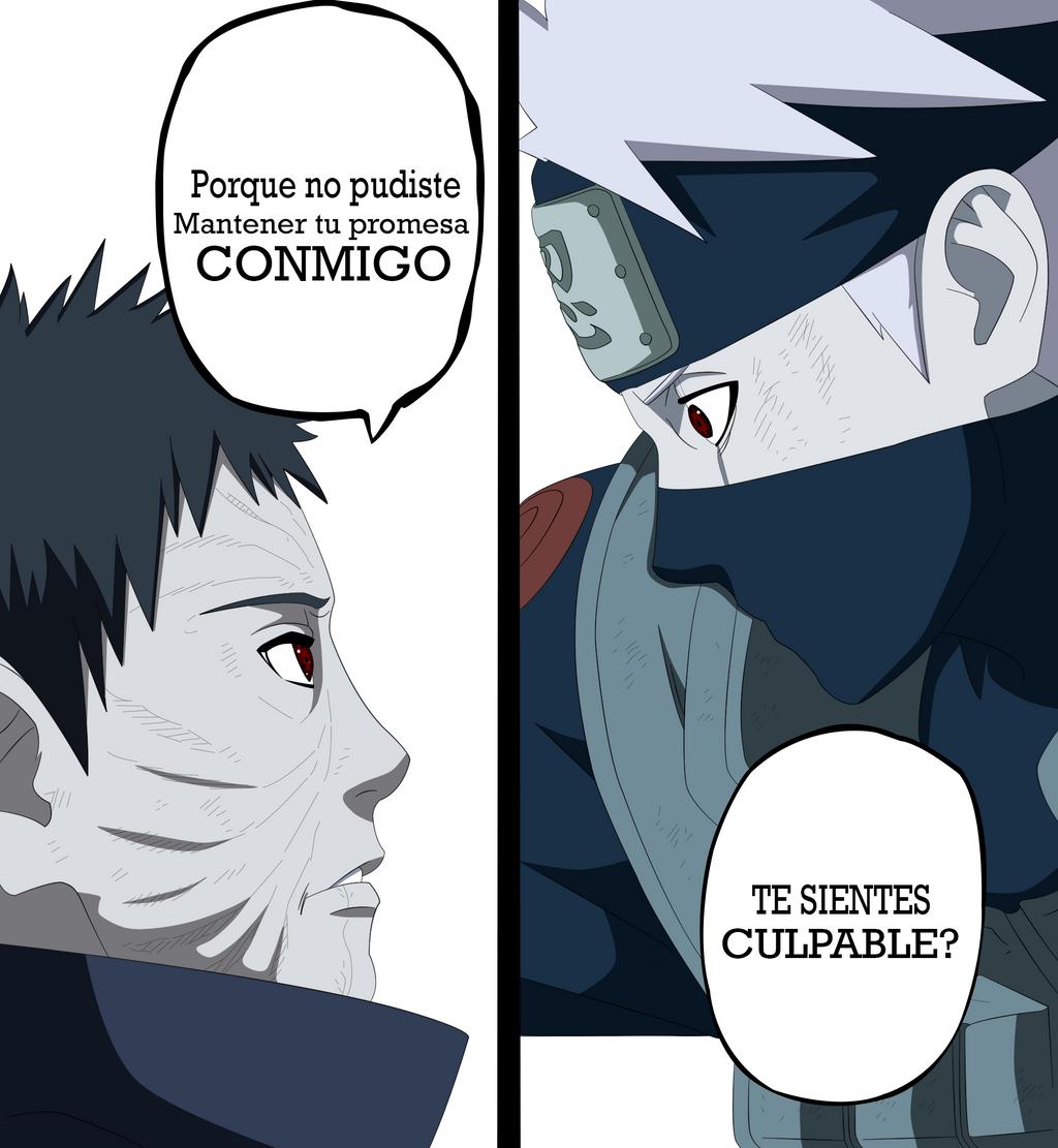 KAKASHI VS OBITO 629  COLORED  by MDesignIncObito Vs Kakashi Manga