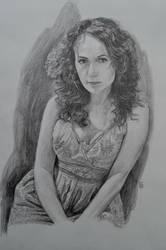 pencil Katia by WladimirBashanov