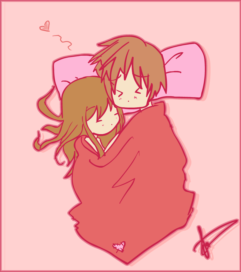 Couples together anime sleeping 19 Common
