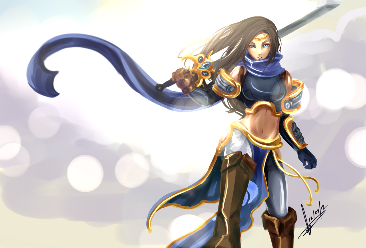 Commission - Garena (female Garen) by Hannah515