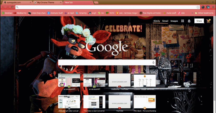 my new chrome theme by IeveIup