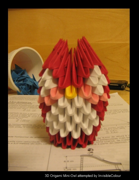 3d Origami Mini Owl By Invisiblecolour On Deviantart