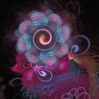'Lightflower Rose 2, Blue' by SBricker