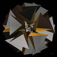 'TetraStar, gold + silver' by SBricker