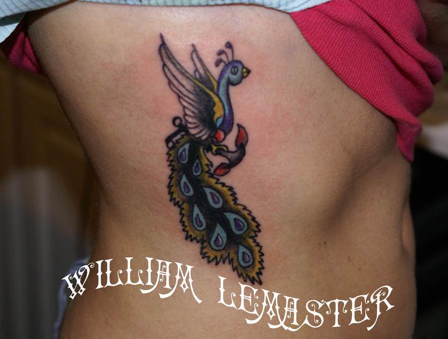 Traditional peacock by lemaster99705 on deviantart for Traditional peacock tattoo