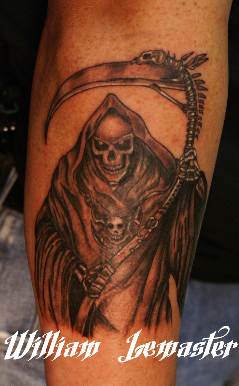 Grim reaper arm tattoo by lemaster99705 on deviantart for Tattoos of the grim reaper