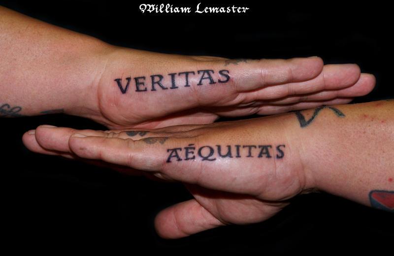 Veritas aequitas by lemaster99705 on deviantart for Veritas aequitas tattoos