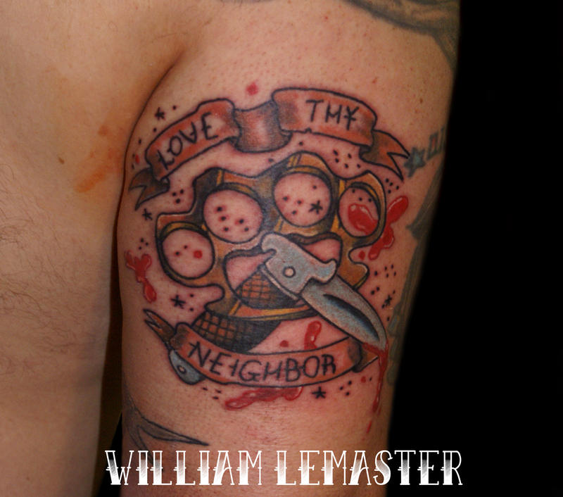 love thy neighbor tattoo by lemaster99705 on deviantart
