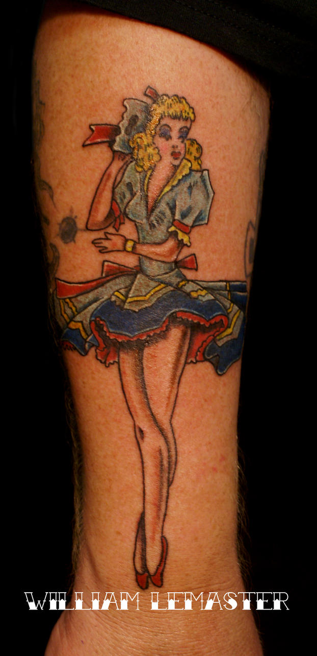 Sailor jerry pinup tattoo by lemaster99705 on deviantart for Sailor jerry pin up tattoos