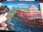 geisha girl scenery