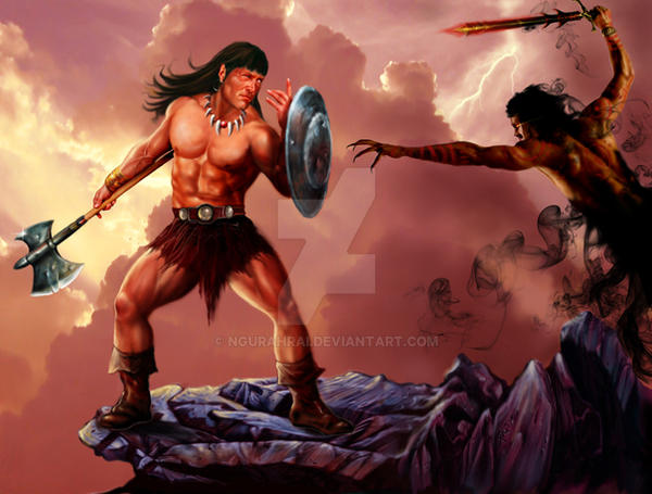 Conan VS Dark Army by ngurahrai