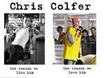 Chris Colfer, the reason