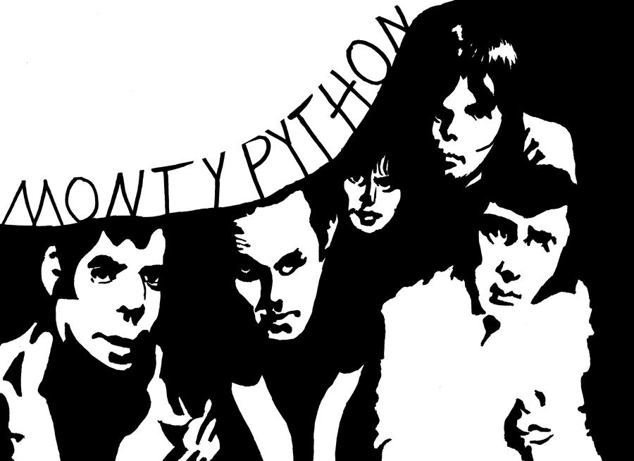 The cast of Monty Python in Noir by brickwallsam