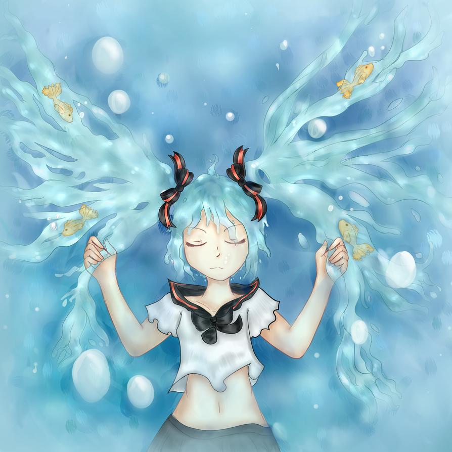 Bottle Miku by Amulet-Kitty