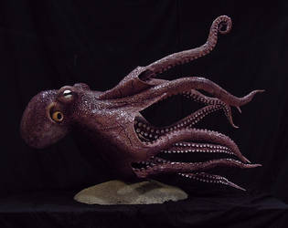 Giant Octopus II by blackpanda